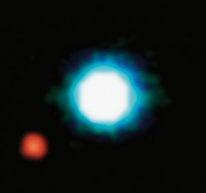 Ensimmäinen kuvattu eksoplaneetta. Kuva ESO.