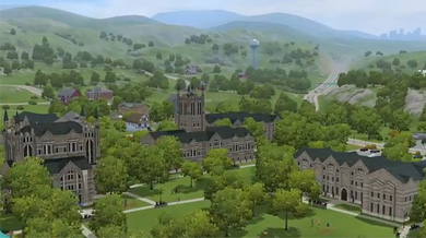 Kampusnaapuruston näkymiä. Kuva: EA