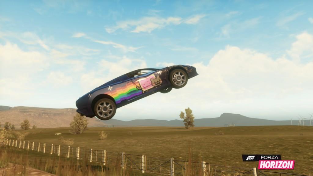 Lentävä Nyan cat-auto