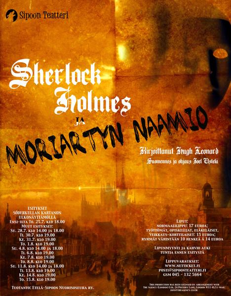 Sherlock Holmes ja Moriartyn naamio @ Sipoon Teatteri