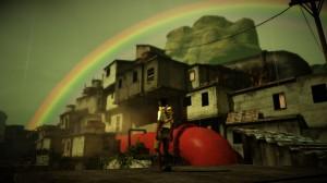 Quico katselee kaunista favelaa.