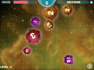 Kuvakaappaus pelistä Meteor Math.