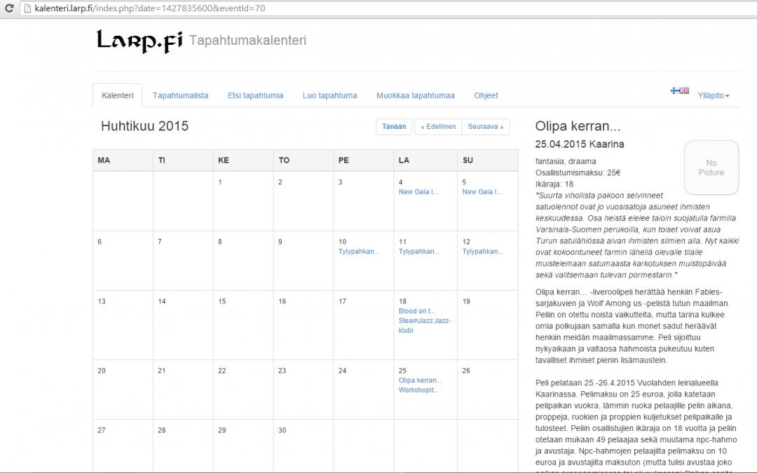 Larp-kalenterin tulevaisuudennäkymät