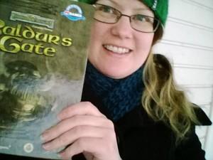 Kirjoittaja ja Baldur's Gate.