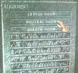 Neutral good on kuulemma nynnyin alignment. Kuin minulle tehty, siis.