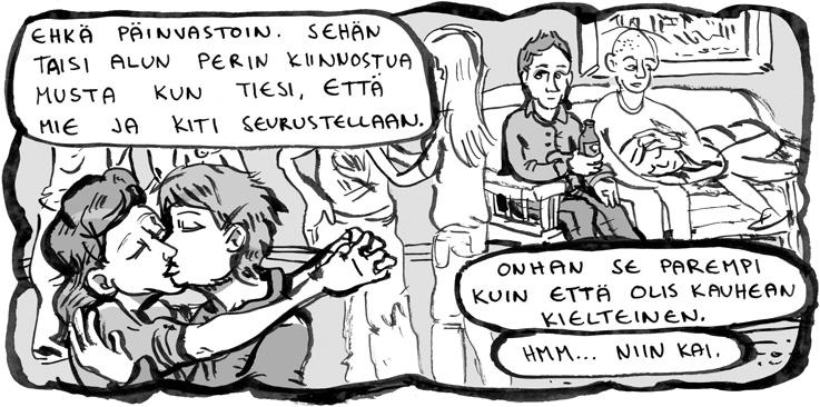 Tarinassa Itäpuolentie – Muumion kirous kävi ilmi, että Hannamarin puoliso Kiti ja Sirin äiti Kristiina ovat seurustelleet.
