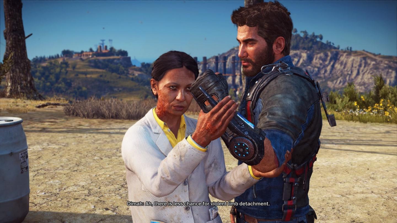 Dimah Ali Umar al-Masri on entinen agentti ja nykyinen tutkija, ilahduttava pellepelotonmainen naishahmo, jota näkyy pelissä aina silloin tällöin. Rico Rodriguez on itse päähenkilö, joka seikkailee (lentää, ajaa ja ampuu) kotimaassaan Medicissä.