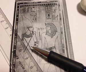 Egyptologian opiskelua vuonna 2015. Kuvaaja: Mia Meri