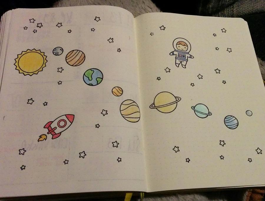 Bullet Journal taidetta