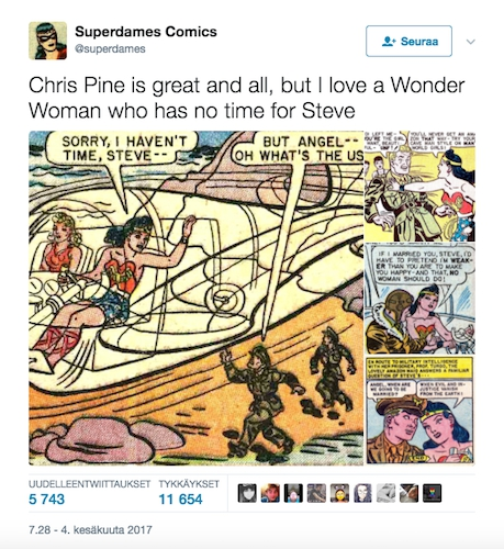 Wonder Woman ei miestä tarvitse!