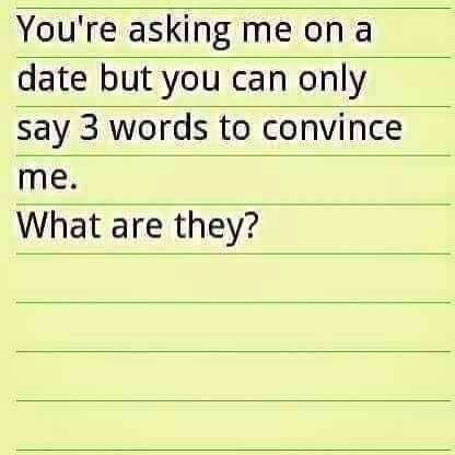 Joulukalenterin luukku 3: Ask me on a date with only three words
