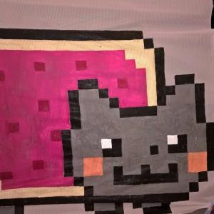 Kirkkaat maalit ja helposti tunnistettava hahmo toimivat hyvin. Kuva: Anna C