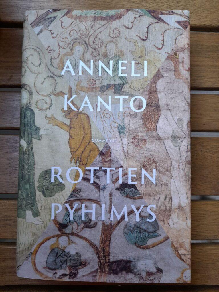 Kuva kirjan kannesta, jossa vanhan tyylistä ihmis- ja muita hahmoja.
