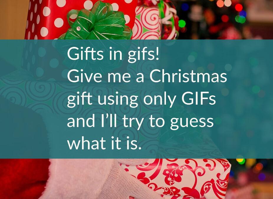 Joulukalenterin luukku 10: Gifts in GIFs