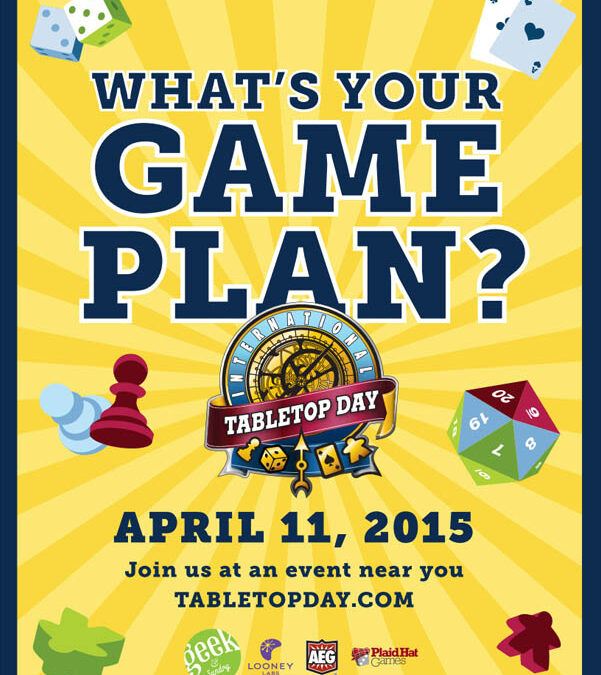 Lautapelit esiin! 11.4.2015 on International TableTop Day